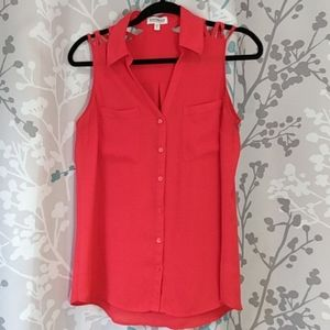 Express red blouse sz M